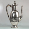 Duhme Sterling Silver Rare Aesthetic Movement Black Coffee Pot, Cincinnati, c. 1892