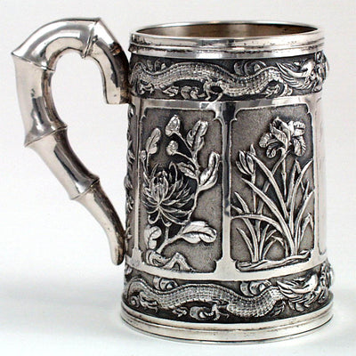 Luen Wo Chinese Export Silver Repousse Cup, Shanghai, c. 1910