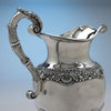 Handle to Thomas Fletcher Antique Coin Silver Ewer, Philadelphia, c. 1830
