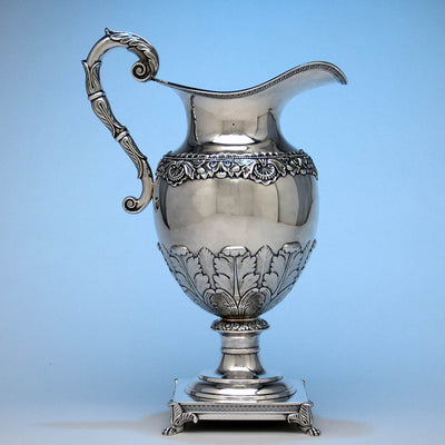 Thomas Fletcher Antique Coin Silver Ewer, Philadelphia, c. 1830