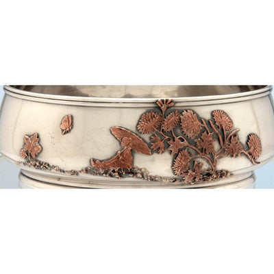 Detail of Gorham Antique Sterling Silver and Other Metals Bowl, Providence, 1881