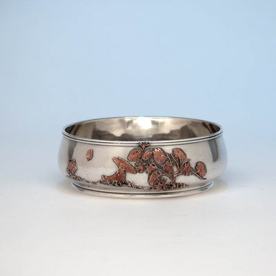 Gorham Antique Sterling Silver and Other Metals Bowl, Providence, 1881