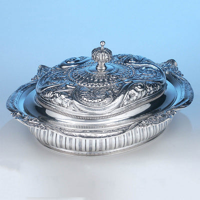 Gorham Antique Sterling Silver Aesthetic Movement Prototype Vegetable Dish, Providence, RI, c. 1888