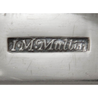 Marks on John McMullin Antique Coin Silver Coffee Set, Philadelphia, PA, 1805