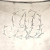 Monogram on John McMullin Antique Coin Silver Coffee Set, Philadelphia, PA, 1805