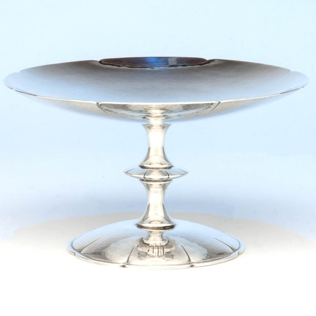 Porter Blanchard 'Lotus' Pattern Sterling Silver Tazza, Pasadena, CA, 2nd Quarter, 20th Century