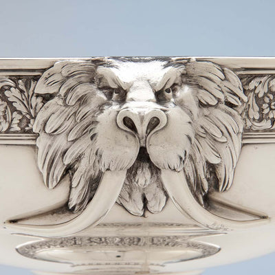 Walrus on Tiffany & Co Antique Sterling Silver 'Walrus' Punch Bowl, New York City, c. 1875