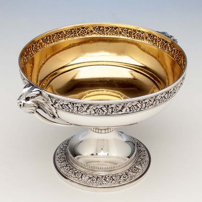 Interior of Tiffany & Co Antique Sterling Silver 'Walrus' Punch Bowl, New York City, c. 1875