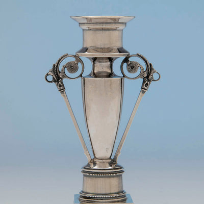 Top of Wood and Hughes Antique Coin Silver Candelabrum Base, NYC, c. 1865