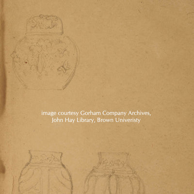 Sketch of tea caddy by Charles Grosjean, courtesy Gorham Company Archives, John Hay Library, Brown University