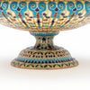 Base of Gorham Antique Sterling and Plique-A-Jour Enamel Vase or Dish, Providence, RI, 1893