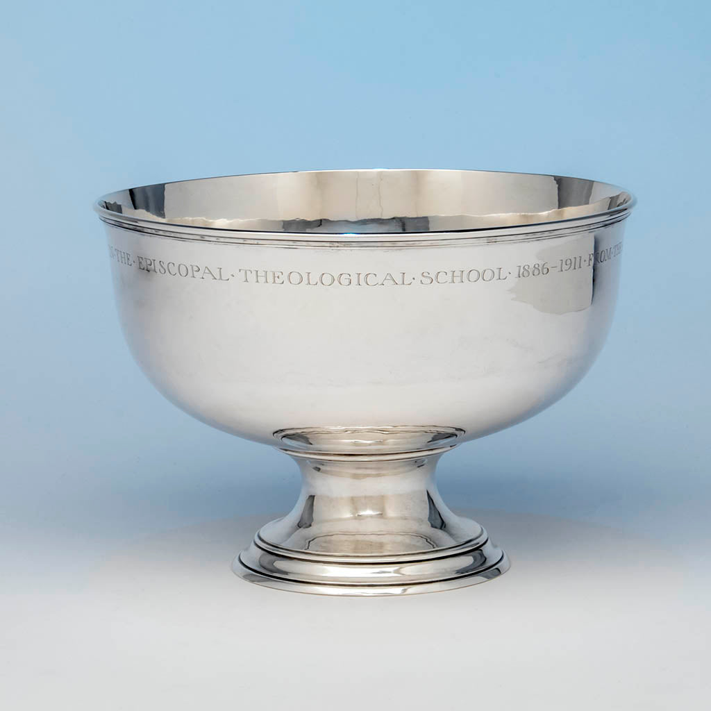Arthur Stone Arts & Crafts Sterling Silver Presentation Bowl, Gardner, Massachusetts, c. 1911