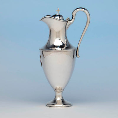 Flagon Profile Karl Leinonen Arts & Crafts Sterling Silver and Enamel Communion Service, Boston, c. 1916
