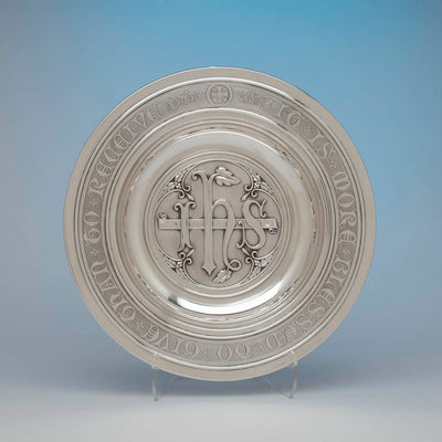 Gorham Antique Sterling Silver Alms Dish, Providence, RI, c. 1905