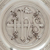 Central plaque on Gorham Antique Sterling Silver Alms Dish, Providence, RI, c. 1905