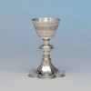 Goblet to Thomas Peard Rare Antique Sterling Silver Communion Set, London, 1871