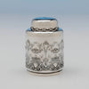 Detail of Whiting Antique Sterling Silver 'New Empire' Tea Caddy, NYC, c. 1890's