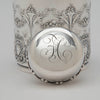 Monogram on Whiting Antique Sterling Silver 'New Empire' Tea Caddy, NYC, c. 1890's