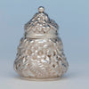 Theodore B. Starr Antique Sterling Silver Repousse Tea Caddy, NYC, c. 1900