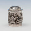 Detail of Indian Antique Silver Repousse Container, Calcutta, c. 1900