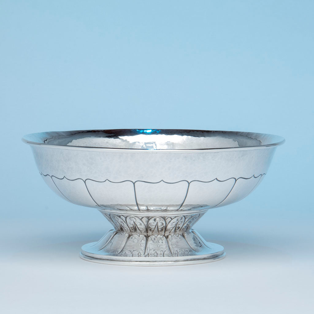 Falick Novick Arts & Crafts Sterling Silver Centerpiece Bowl, Chicago, IL, c. 1930's
