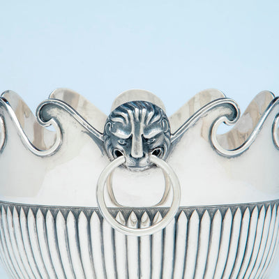 Handle detail of McAuliffe & Hadley Sterling Silver Monteith, Boston, MA, 1914