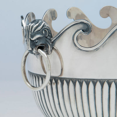 side detail of McAuliffe & Hadley Sterling Silver Monteith, Boston, MA, 1914