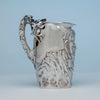 Side view of Gorham Antique Sterling Figural Pitcher, Providence, RI, 1885