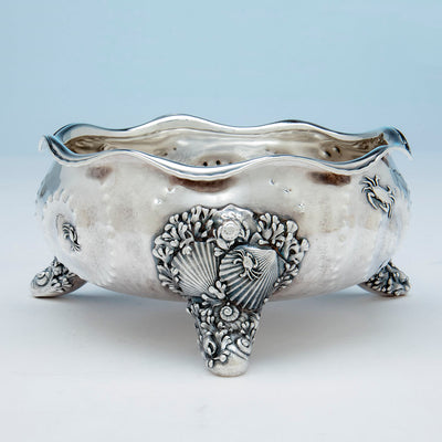 Foot to Whiting Antique Sterling Silver Nautical Bowl, NYC, NY, c. 1880's