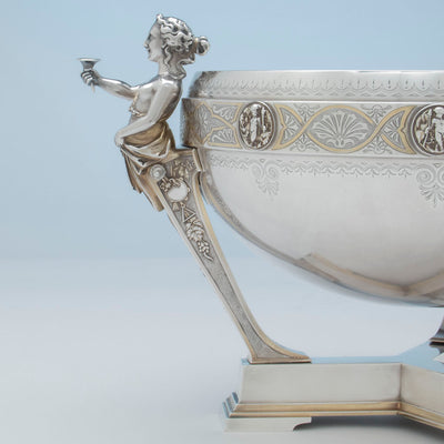 Profile of Gorham Antique Coin Silver Figural Punch Bowl, Providence, 1866-67