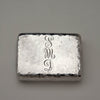 Monogram on Tiffany & Co Antique Aesthetic Movement Parcel Gilt Sterling Silver Box with Frog, NEW YORK CITY, c. 1879