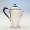 Coffee pot to Watson Company 'Dorian' Modern Sterling Silver Coffee Service, designed by Percy Ball, c. 1935