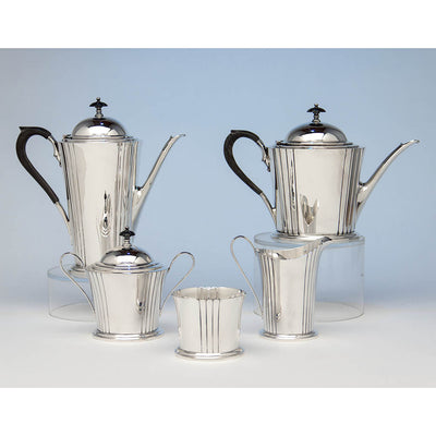 Watson Company 'Dorian' Modern Sterling Silver Coffee Service, designed by Percy Ball, c. 1935