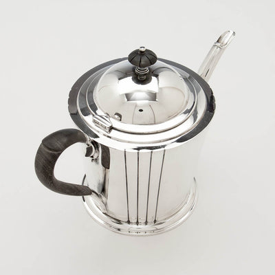 Top of tea pot to Watson Company 'Dorian' Modern Sterling Silver Coffee Service, designed by Percy Ball, c. 1935