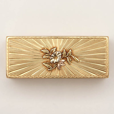 Underside of Pierre Siffait French Louis XV Vari-Color Gold Snuff Box, Paris, 1755