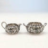 Bats on Gorham 'Japanese Work' Antique Sterling Silver and Enamel 'Sample' Tea Set, Providence, RI, 1897-98