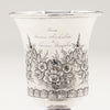 Presentation on Samuel Kirk Pair of 10.15 Silver Antique Goblets, Baltimore, MD, 1828-46
