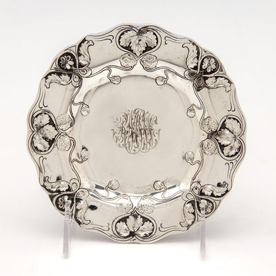 Dessert plate of Gorham Athenic Antique Sterling Silver Ice Cream Set, Providence, RI, 1901