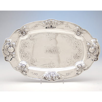Platter to Gorham Athenic Antique Sterling Silver Ice Cream Set, Providence, RI, 1901