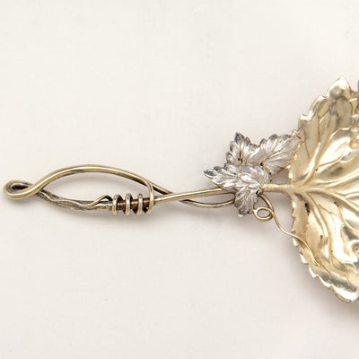 Handle to J. F. Fradley & Co Antique Sterling Silver Naturalistic Bon Bon Server, New York City, c. 1890