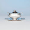 Arthur Stone Arts & Crafts Sterling Silver Covered Sauce Tureen, Gardner, MA, c. 1920