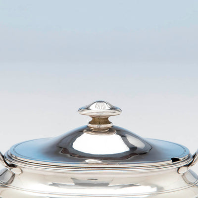 Handle to Arthur Stone Arts & Crafts Sterling Silver Covered Sauce Tureen, Gardner, MA, c. 1920