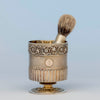 Edward Farrell Antique Sterling Shaving Beaker and Associated Brush, London, 1814/15