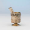 Marks on Edward Farrell Antique Sterling Shaving Beaker and Associated Brush, London, 1814/15