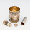 Parts to Edward Farrell Antique Sterling Shaving Beaker and Associated Brush, London, 1814/15