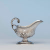 Jones, Shreve, Brown and Co Antique Coin Silver Gravy Boat, Boston, MA, c. 1857-1860