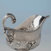 Handle to Jones, Shreve, Brown and Co Antique Coin Silver Gravy Boat, Boston, MA, c. 1857-1860