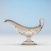 Date on Eoff and Shepard Antique 950 Silver Gravy Boat, Boston, MA, c. 1860