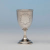 American Antique Coin Silver Presentation Goblet, c.1860