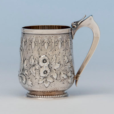 Gorham Antique Coin Silver Child's Cup, Providence, RI, c. 1865